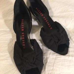 WALTER STEIGER Patent Leather Peep-Toe Size 7.5/38